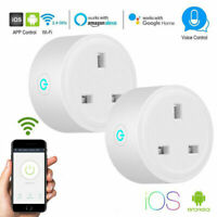 2Pack Smart Plug Outlet Switch WiFi Socket Remote Control Amazon Alexa Google UK