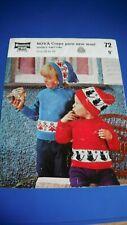 Mountain Maid Child's Sweater & Hat Knitting Pattern 72
