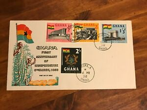 1958 Africa Ghana First Year of Independence First Day Cover