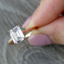 1.25 Ct Diamond Emerald Cut 14K Yellow Gold Fn Solitaire Engagement Wedding Ring