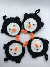 Crochet Penguin Applique Animal Small Decor Mini Accessory Cute Diy Kids Toy Dol