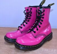 Dr Martens Pink 8 Eyelet Original Lace Up Boots Doc Punk Skins DMs Size UK 3