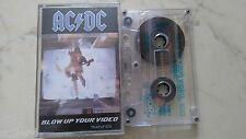AC/DC Blow Up Your Video *MEGARARE AUSTRALIASIA MC TAPE*ALBERT TC-APLP 072*