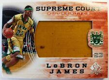 2013 13-14 SP Authentic Supreme Court Floor Lebron James #SC-10, High School