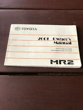2001 Toyota MR2 Owners Manual OEM Free Shipping
