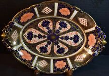 Royal Crown Derby Porcelain Imari Pattern Oval Bowl