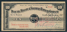 $10 Minnesota. Duluth, Missabe & Northern Railway Co. 1907 Panic Scrip.