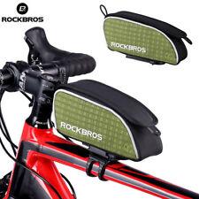 ROCKBROS Top Tube Bag Road Bike Frame Bags Green Portable Bicycle Bag Anti-Dust