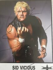 Sid Vicious Wcw Signed Promotional 8x10 Picture Autographed 1999