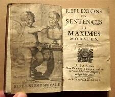 1666 +TRES RARE+ DE LA ROCHEFOUCAULD REFLEXIONS MAXIMES 2 EDIT° LIVRE JANSENISME
