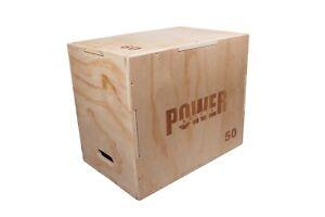 3-in-1 Wooden Fitness Plyometric Jump Box Gym Strength Training 24''×20''×16''