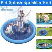 Splash Sprinkler Pad Pet Dogs Kids Wading Pool Inflatable Outdoor Water Play Toy