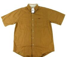 Carhartt Short Sleeve Button Down Work Shirt M NWT New Rugged Flex Stretch Khaki