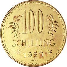 Österreich 100 Schilling 1929 Erste Republik Goldmünze prägefrisch in Münzkapsel