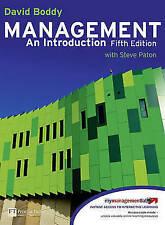 Very Good, Management: An Introduction, Boddy, David, Book