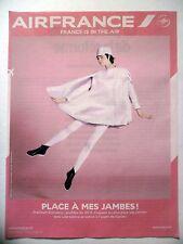 PUBLICITE-ADVERTISING :  AIR France Place à mes jambes  2015 Avions,Cie Aérienne
