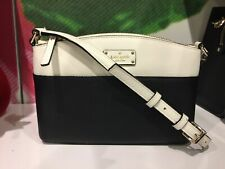 Kate Spade Millie Grove Street Leather Crossbody Black&cemn Shoulder Handbag Bag