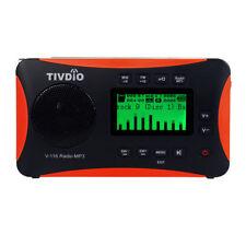 Radio Portátil FM MW SW Receptor Mundial Reproductor de MP3 Batería Recargable
