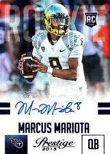 2015 Prestige Rookie Autographs Purple #264 Marcus Mariota Titans Ser # 89/100
