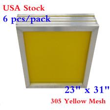 "USA 6Pcs 23"" x 31"" Aluminum Silk Screen Printing Frame With 305 Yellow Mesh"