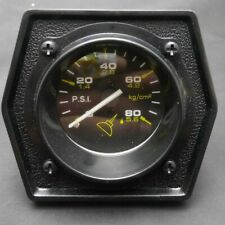 """NOS 2"""" Mechanical Oil Pressure Gauge (0-80) Military Style CHEVY GM HOT ROD FORD"""