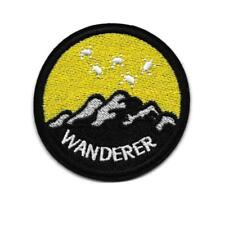 """WANDERER IRON ON PATCH 2.6"""" Outdoor Travel Adventure Badge Embroidered Applique"""