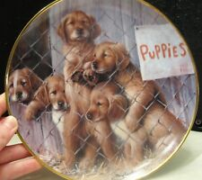 """Franklin Mint Puppies Plate """" Adopt A Puppy"""""""