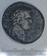 Titus Judaea 79-81AD AE22 F15 ANACS bronze Caesarea Maritima