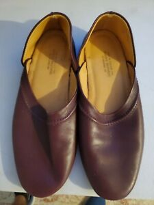 Brooks Brothers Brown Leather Slippers - SZ 8.5 - Made in England