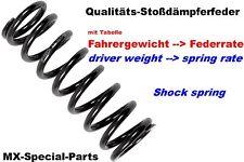 KTM EXCF 450 500 EXC-F Stoßdämpferfeder Stoßdämpfer Feder SHOCK SPRING 63-92N/mm