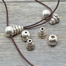 10 Set  8mm Antiqued Silver Plated Tibetan Guru Beads