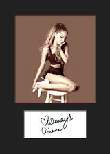 ARIANA GRANDE #7 A5 Signed Mounted Photo Print - FREE DELIVERY