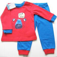 Schlafanzug  Gr.74 Feetje NEU m.E 100% Baumwolle rot blau Pyjama Bär baby