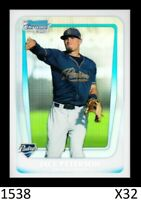 1-2011 BOWMAN CHROME DRAFT REFRACTOR JACE PETERSON BRAVES QTY AVAILABLE
