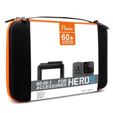 For Gopro HERO5 Accessories Case Kit Frame 60 Pc Items Outdoor Extreme Black NEW