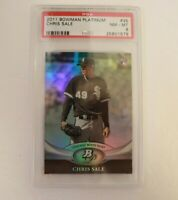 2011 Bowman Platinum Chris Sale #35 Rookie RC PSA 8