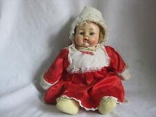 vintage doll Alexander 1963 ? infant baby girl clothed moving eyes red dress