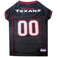 Houston Texans Licensed NFL Pets First Dog Pet Mesh Blue Jersey Sizes XS-2XL