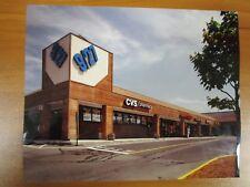 Vintage Glossy Press Color Photo Natick MA Strip Mall 9/27 CVS Pharmacy 1990s