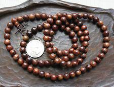 100% Natural Hainan Huanghuali Preyer Buddha Beads Necklace / Bracelet, 8mm 108颗