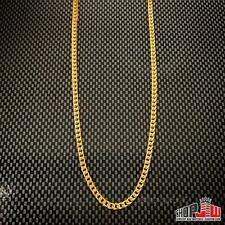"""14k Gold Finish Stainless Steel Franco Link Chain Necklace 2mm 24"""" Mens Fashion"""