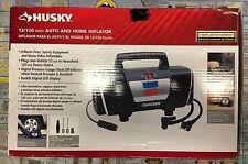 Husky 12V 120V Home Auto Inflator, Portable Digital Air Compressor Tire Mattress