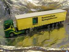 ** Herpa 298995 MB Axor Curtain Canvas Cover Semitrailer Meffle 1:87 HO Scale