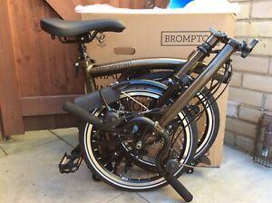 Brompton H6L-X Raw Lacquer Titanium 6 Speed New Folding Bike Worldwide Shipping