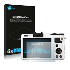 6x Olympus XZ-1 Displayschutzfolie Klar Transparent Schutzfolie Displayfolie