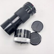 Canon FD 200mm 1:4 Lens With Canon Extender FD 2x-B