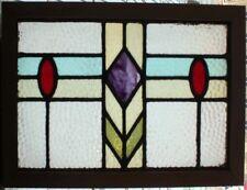 ORIGINAL ART DECO ENGLISH STAINED GLASS WINDOW