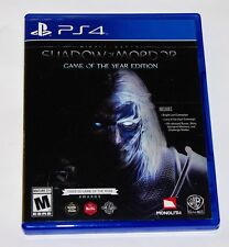 Replacement Case (NO GAME) Middle Earth Shadow of Mordor Playstation 4 Original
