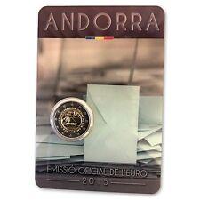 """**Andorra  2015 - BU Coincard """"30 jaar Stemrecht""""- In Stock!. Schaars!**"""