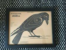 Vintage 1950s Winchester Western Paper Crow Target Sheet Framed As Art